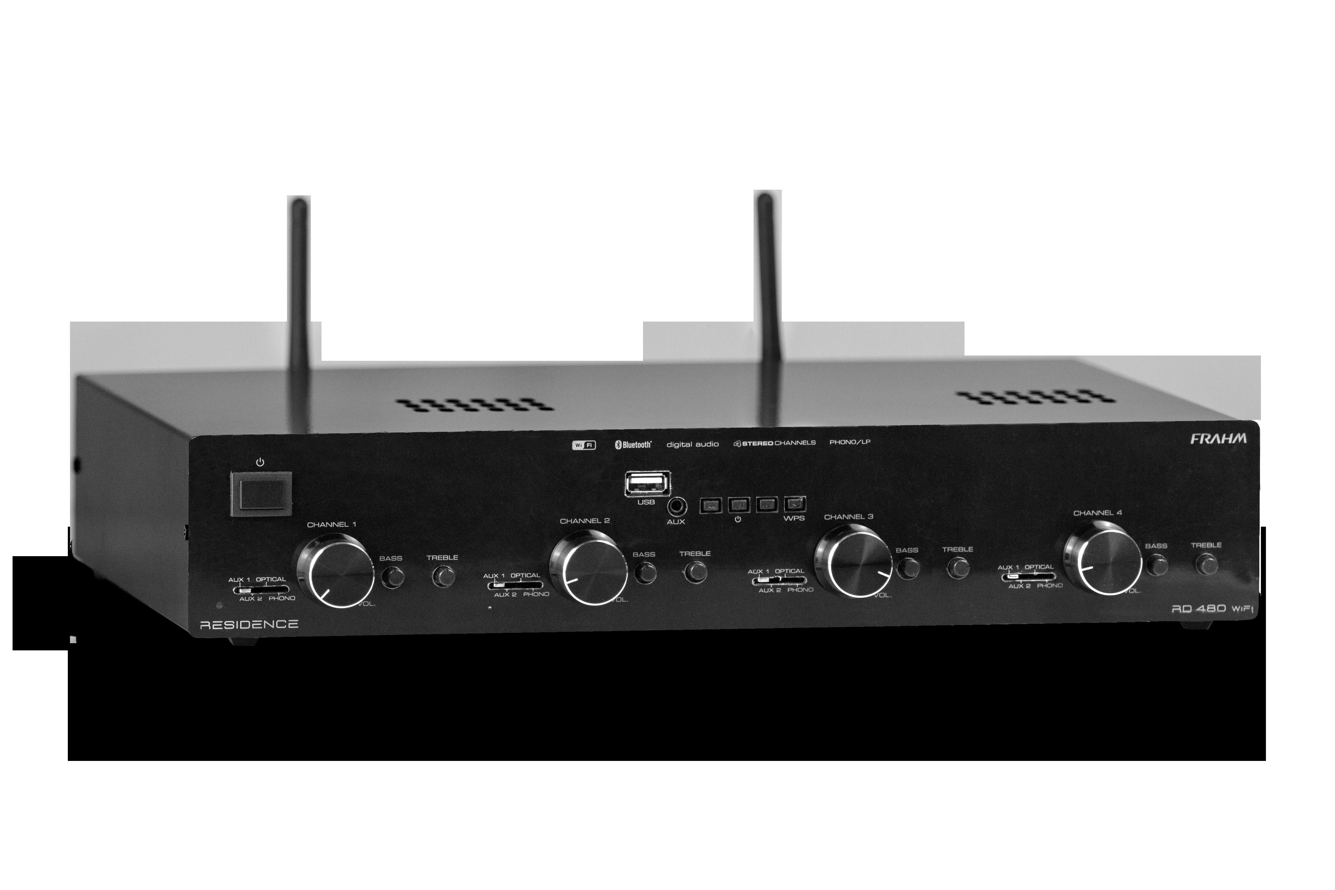 Opções de amplificadores de som para residências